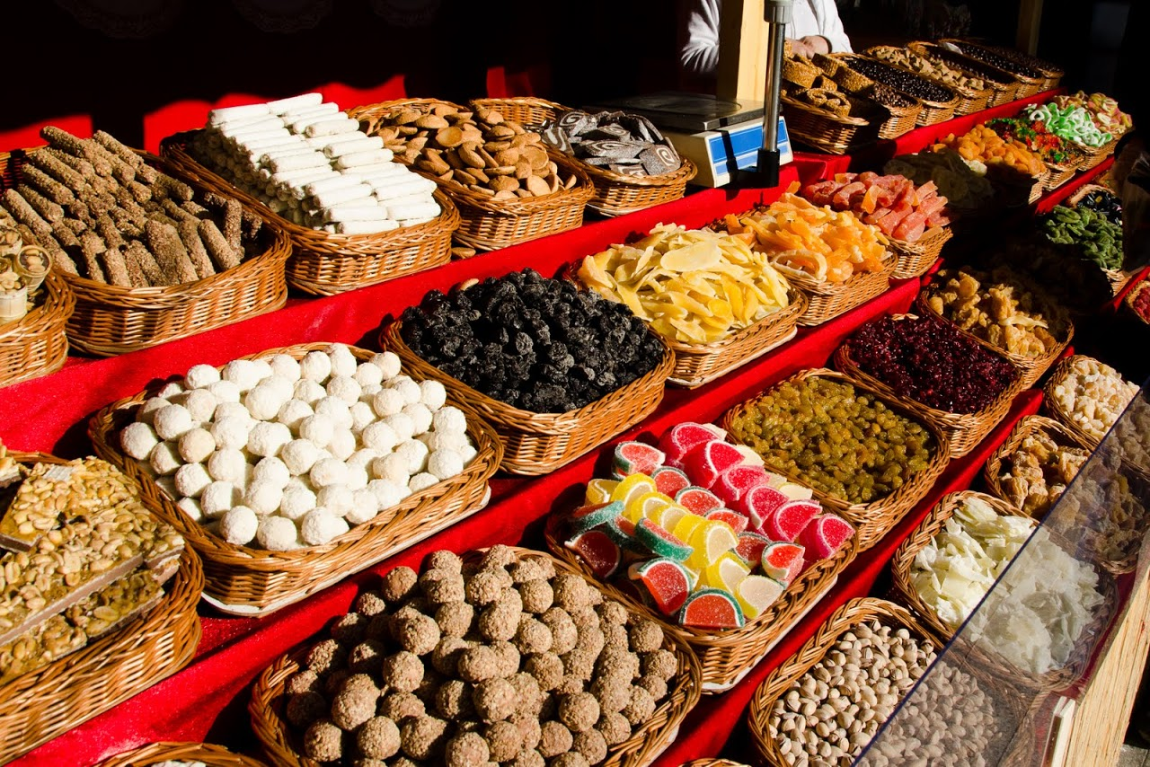 Budapest dried fruit cart