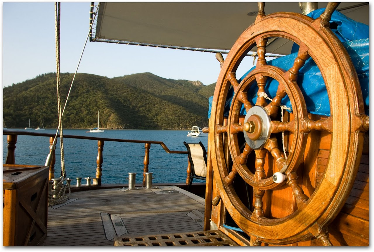 Whitsunday Magic steering wheel