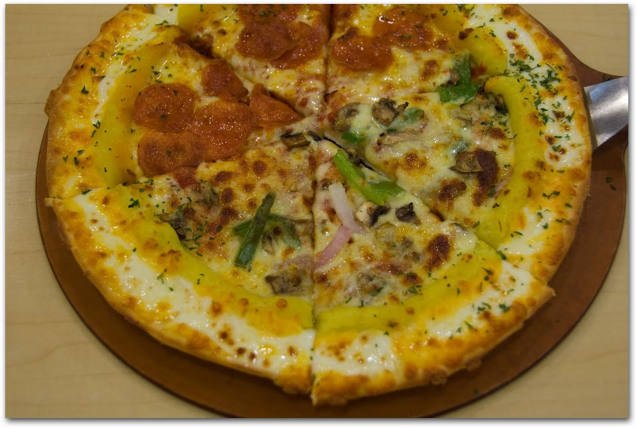 Pizza Hut Rich Gold Super pizza