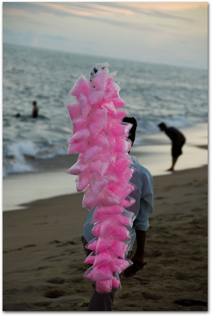 Cotton candy at Marina Beach