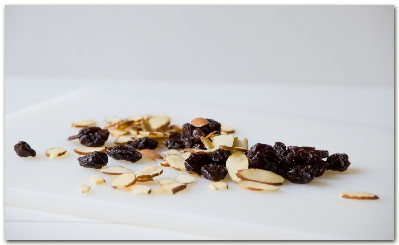Dried cherries and almonds