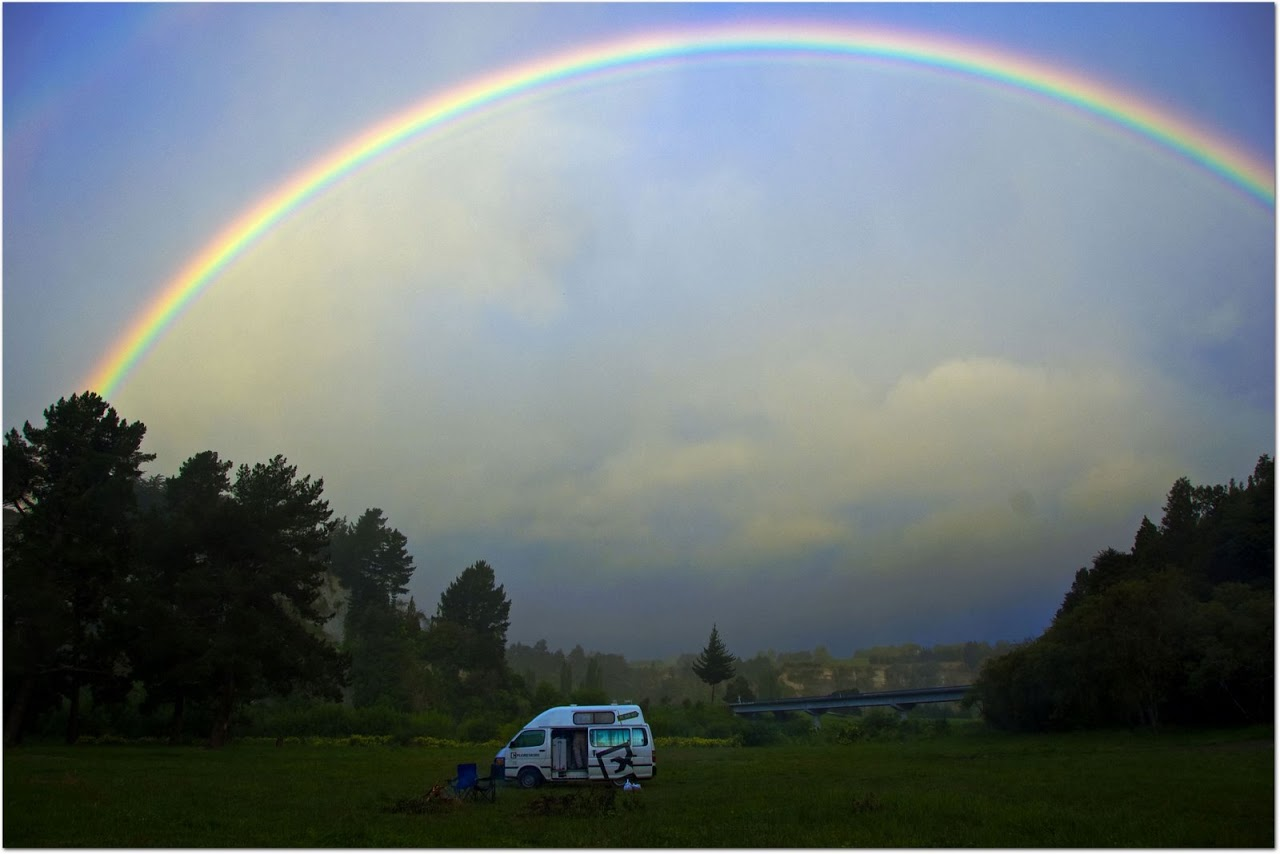 Rainbow over Exploremore Campervan
