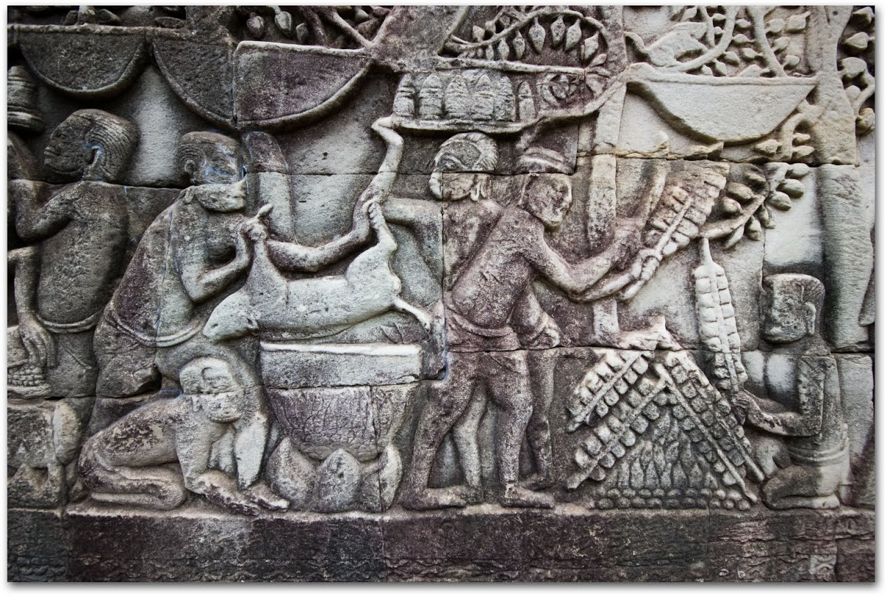Cooking bas-relief at Bayon