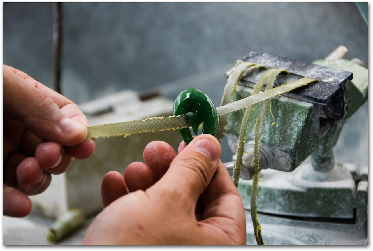Polishing jade pendant