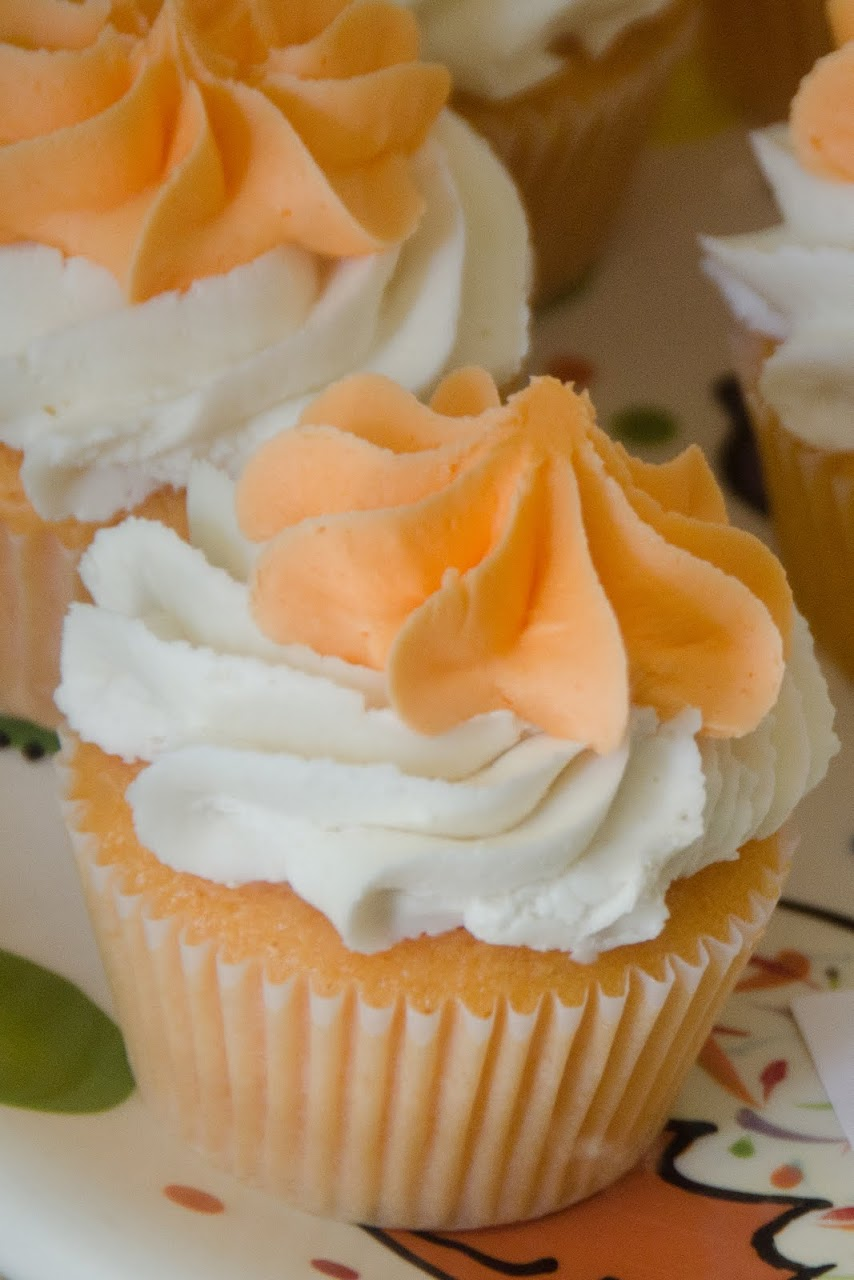 Orange blossom cupcake