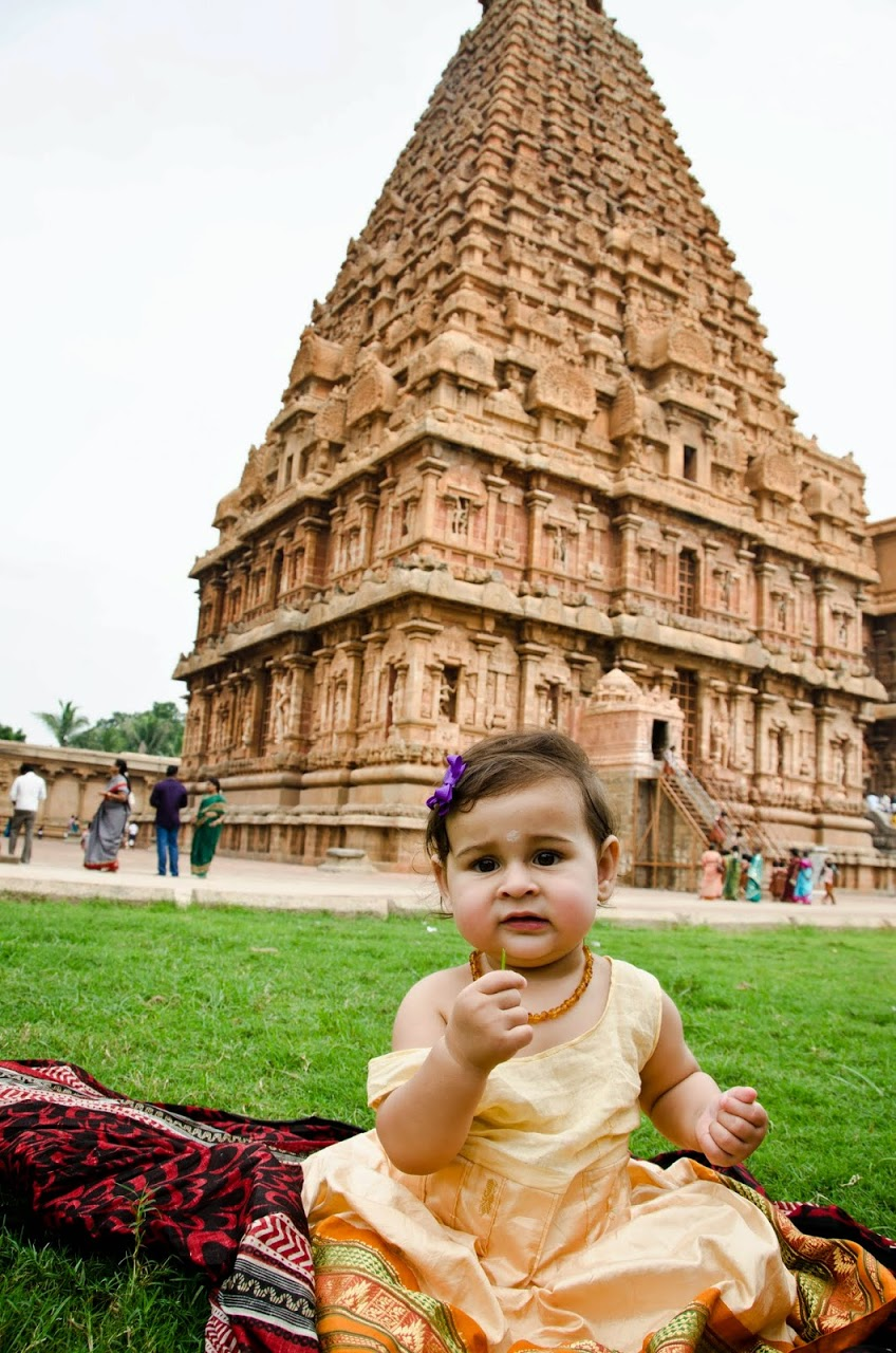 Amara at the Tanjore Big temple