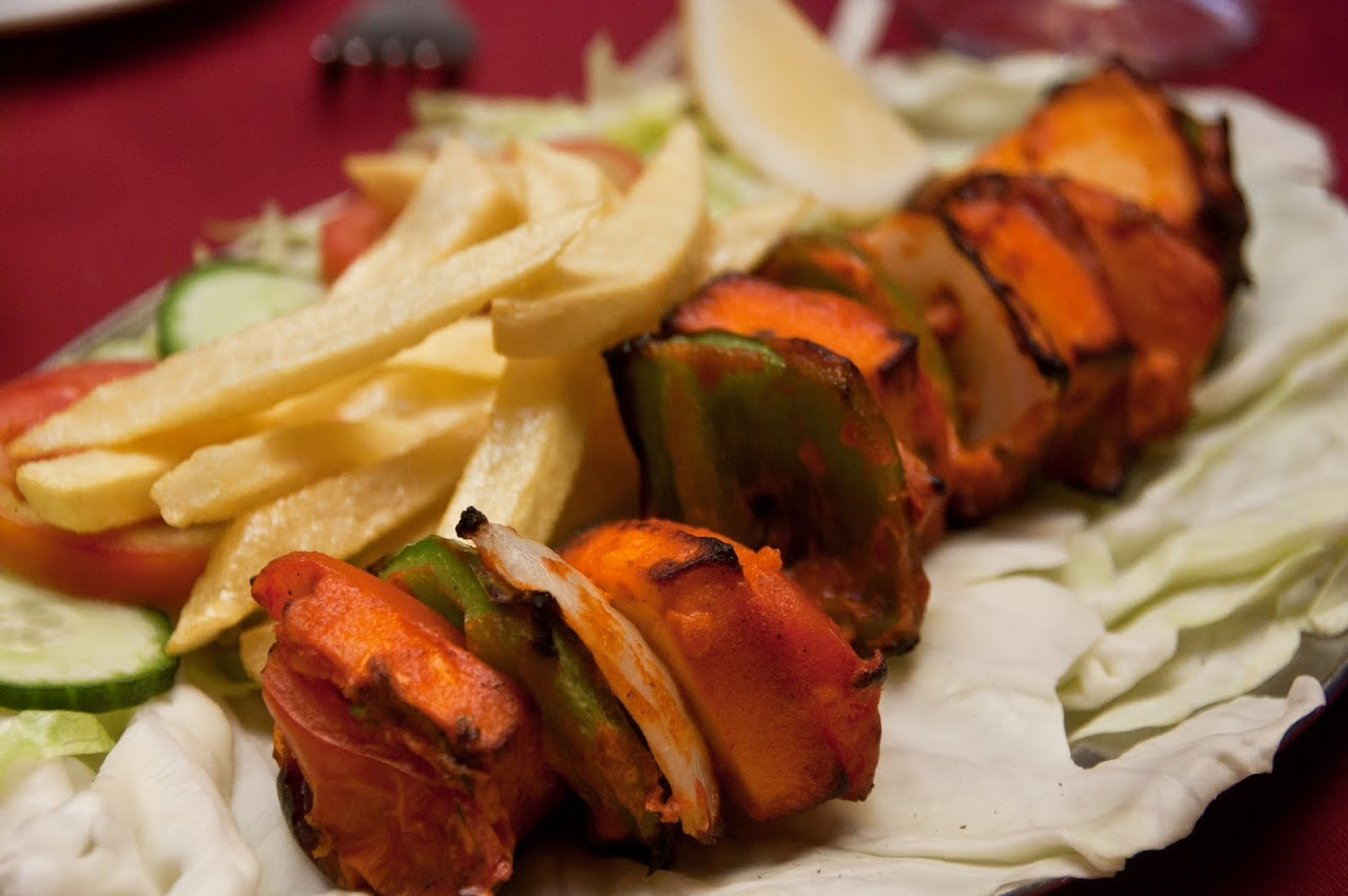 Kebabs with french fries