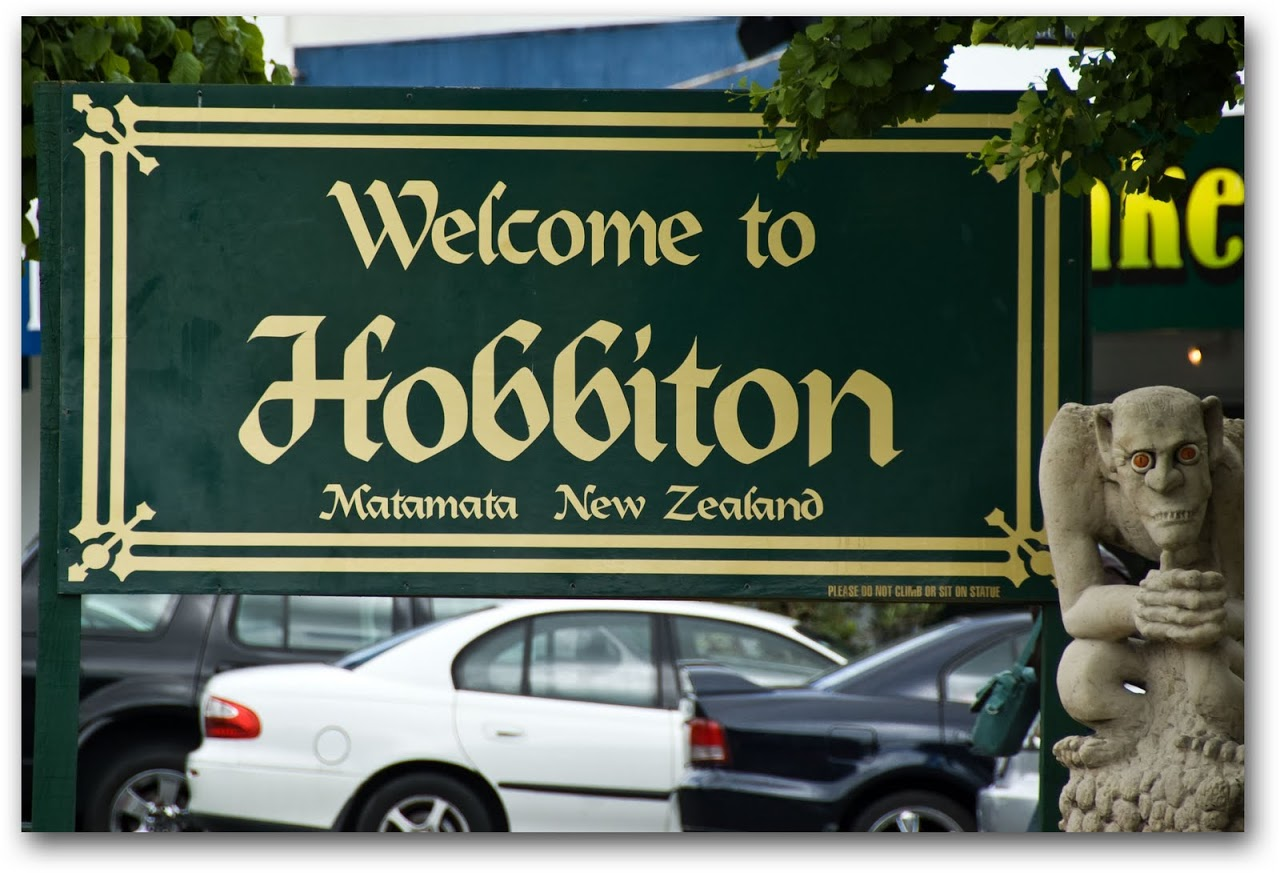 Hobbiton sign in Matamata