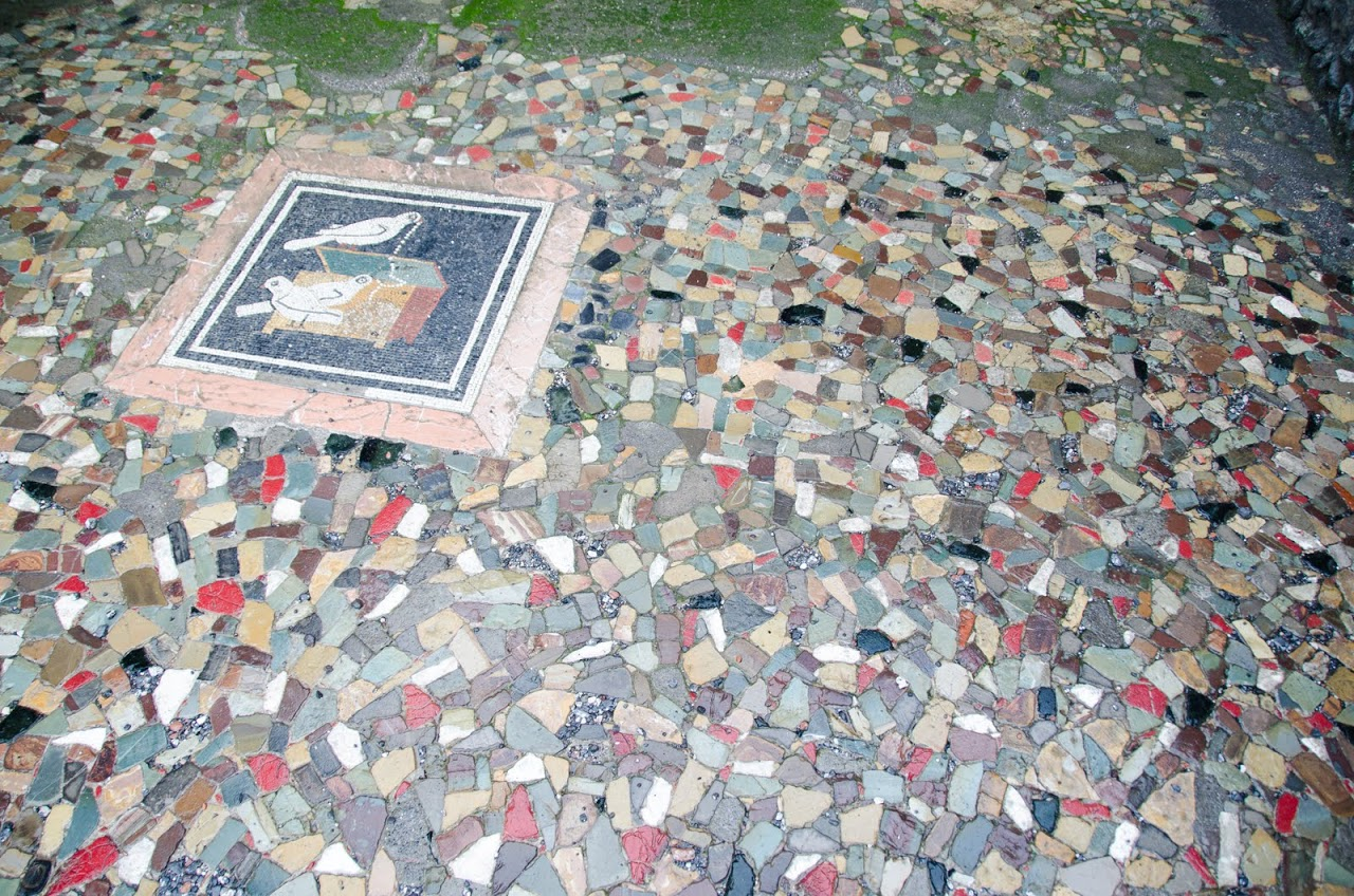 Floor tiles in Pompeii